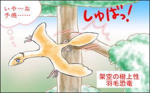 架空の樹上性羽毛恐竜