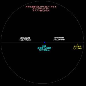 月の大きさと軌道の比較
