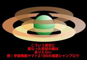 有り得ない惑星の輪の形状