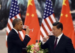 習近平とオバマさんの飲み会