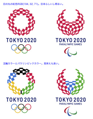 2020年東京オリンピック・パラリンピック色変更案:紅色、五輪色