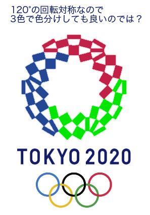 2020年東京オリンピックエンブレム:3色塗り分け案