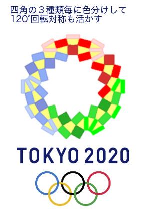 2020年東京オリンピックエンブレム:10色塗り分け案